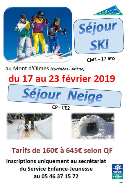 sejour ski