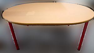 table bois ovale écolier